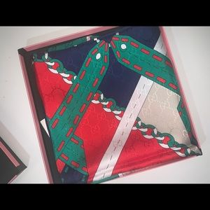 Authentic Gucci silk scarf wrap sarong top